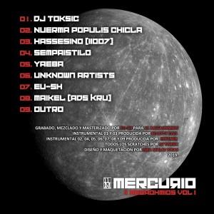 Trasera: 11 Megaohmios - Mercurio