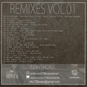Trasera: 728 prods - Classic remixes Vol. 01