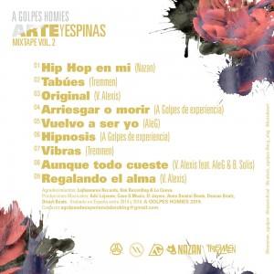 Trasera: A golpes homies - Arte y espinas Vol. 2