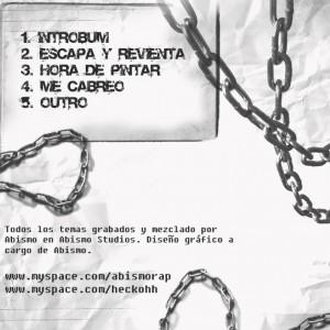 Trasera: Abismo y Hecko - Escapa y revienta