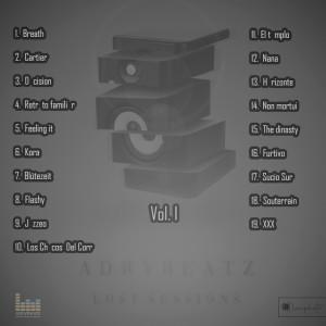 Trasera: AdryBeatzz - Lost Sessions Vol. I (Instrumentales)