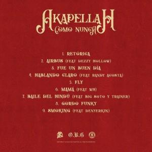 Trasera: Akapellah - Como nunca