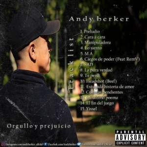 Trasera: Andy berker - Orgullo y prejuicio