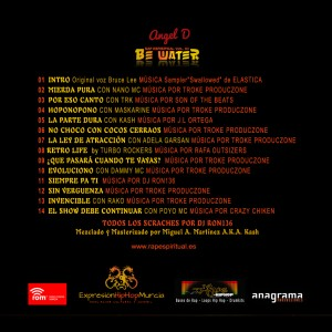 Trasera: Angel D - Be water