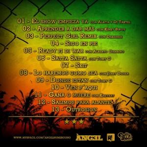 Trasera: Angel - Reggae mixtape