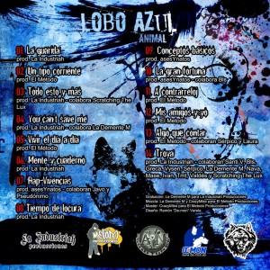 Trasera: Animal - Lobo azul