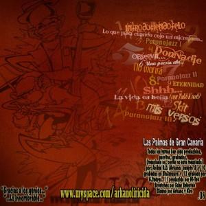 Trasera: Arkano El Liricida - Paranojazz
