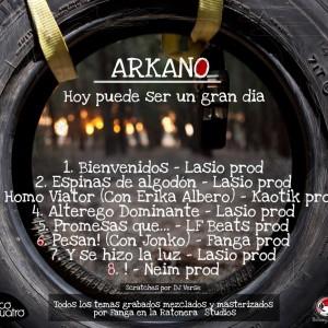Trasera: Arkano - Hoy puede ser un gran dia