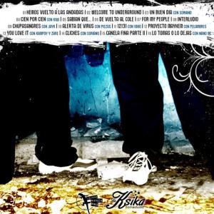 Trasera: Aryon, Negro y Jayder - Welcome to underground