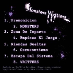 Trasera: Atentado verbal - Monsters writters