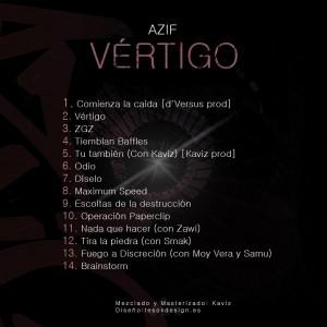 Trasera: Azif - Vértigo
