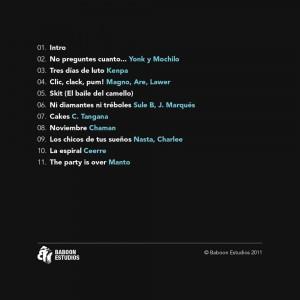 Trasera: Baboon Estudios - Baboon estudios Vol. 1