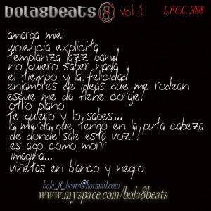 Trasera: Bola8beats - Instru-mentales