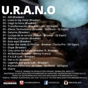 Trasera: Breaker - U.R.A.N.O