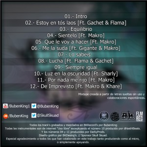 Trasera: Bubenking - La mixtape