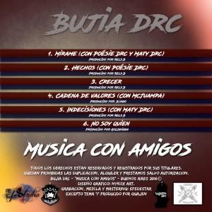Trasera: Bujia DRC - Música con amigos