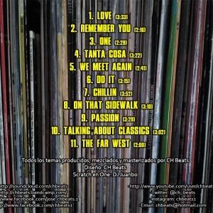 Trasera: CH beats - Hidden rhymes Vol. 1 (Instrumentales)