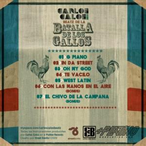 Trasera: Carlos Calos beatz - Las bases de la batalla de gallos (Instrumentales)