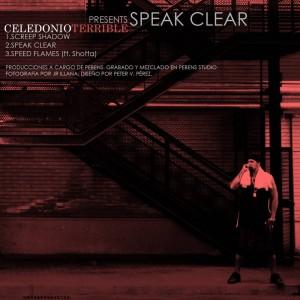 Trasera: Celedonio Terrible y Pebens - Speak clear