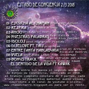 Trasera: Chaman Charro - Estado de conciencia 2/3