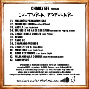 Trasera: Charly Efe - Cultura Popular