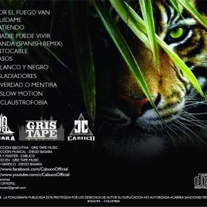 Trasera: Cristian Cabuco - El animal de fuego