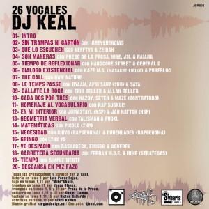 Trasera: DJ Keal - 26 Vocales