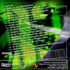 Trasera: DJ Keal - 33 r.p.m