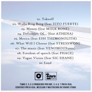 Trasera: DJ Keal y Hibe - Borderless (Instrumentales)