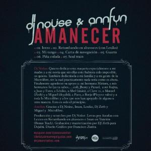 Trasera: DJ Nouse y Annfun - Amanecer