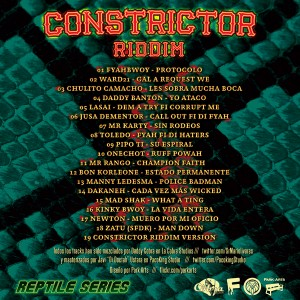 Trasera: Daddy Cobra y Swan Fyahbwoy - Constrictor riddim