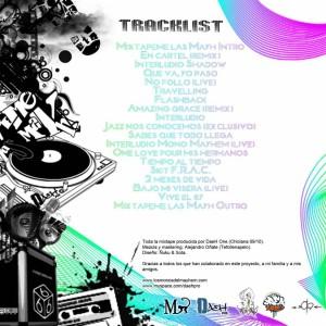 Trasera: Daeh One - Mixtapeme las mayh