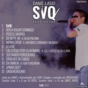 Trasera: Danie y Lasio Prods - SVQ