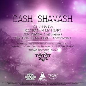 Trasera: Dash Shamash - Inanna + Rain in my heart