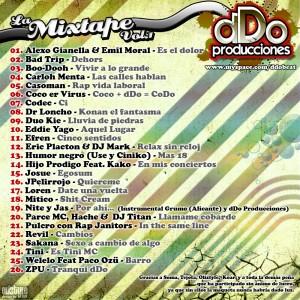 Trasera: Ddo Producciones - La mixtape Vol.1