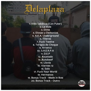 Trasera: Delaplaza - Delaplaza Vol. 1