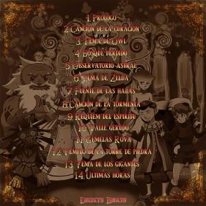 Trasera: Deoxys Beats - Ritmos desde Hyrule (Instrumentales)