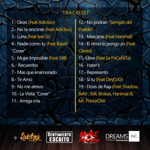 Trasera: Diccionario lirical - Lyric king - beat King