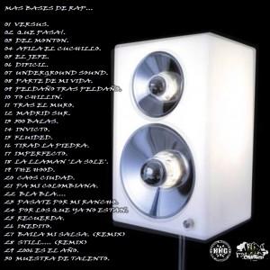 Trasera: Dj Nasty - Más bases de rap (Instrumentales)