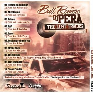 Trasera: Dj Pera - The lost tracks Vol. 1