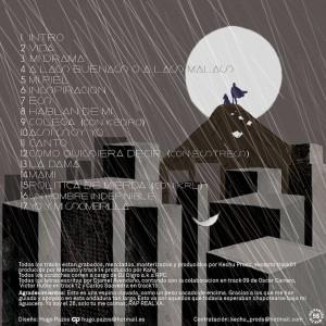 Trasera: Djamel y Kechu Prods - Lluvias torrenciales