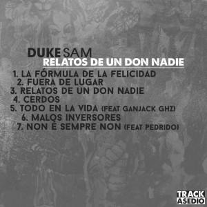 Trasera: Duke Sam - Relatos de un don nadie