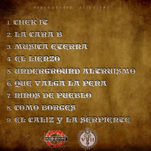 Trasera: EP Murcy y D.Bureba - Underground Altruismo