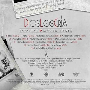 Trasera: Egoliat y Magic Beats - Dios los cría
