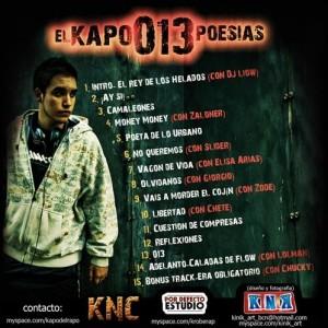 Trasera: El Kapo - 013 poesias