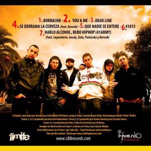 Trasera: El Límite - Hablo alcohol bebo Hip Hop