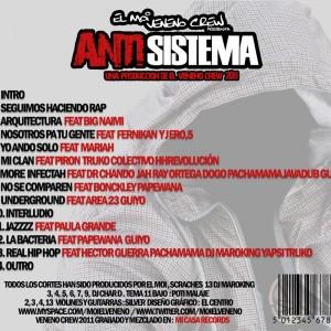 Trasera: El Moi - Antisistema 2011