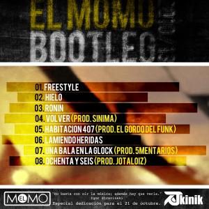 Trasera: El Momo - Bootleg 2012-2013