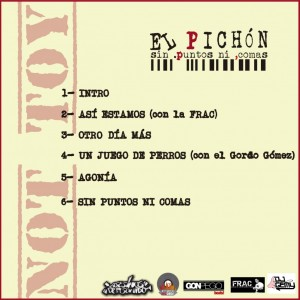 Trasera: El Pichon - Sin puntos ni comas