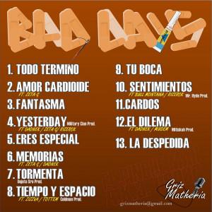 Trasera: El Pinche Mau a.k.a. Osper San - Bad Days